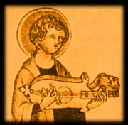 guittern from The Coronation of the Virgin British Library