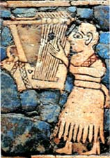 lyre player from the Mosaic Standard of UR
