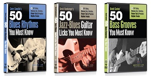 50 Blues Rhythms, 50 Jazz-Blues Licks and 50 Bass Grooves DVD