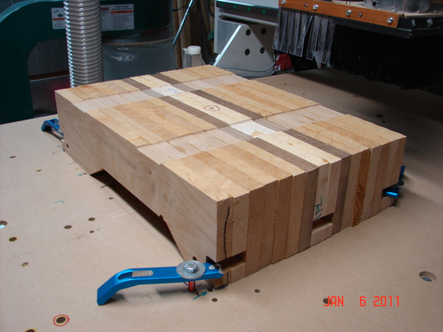 Wood block prepared for manufacturing the guitar