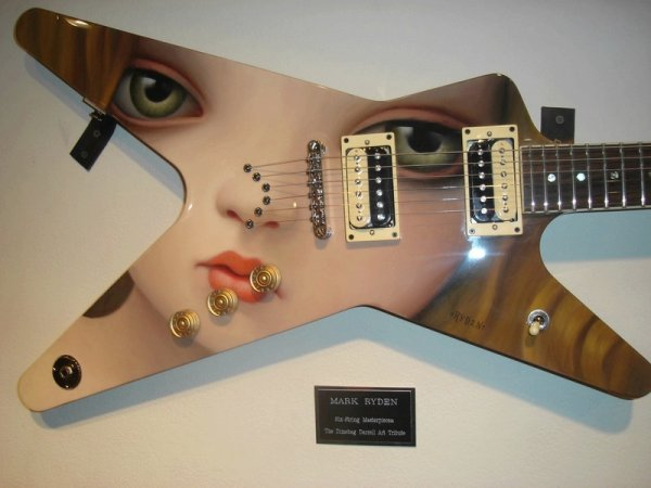 Mark Ryden Painted Guitar