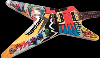 Ozzy Osbourne painted Dean ML Guitar