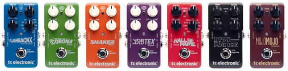 Corona Chorus, Flashback Delay & Looper, Vortex Flanger, Shaker Vibrato and Hall of Fame Reverb