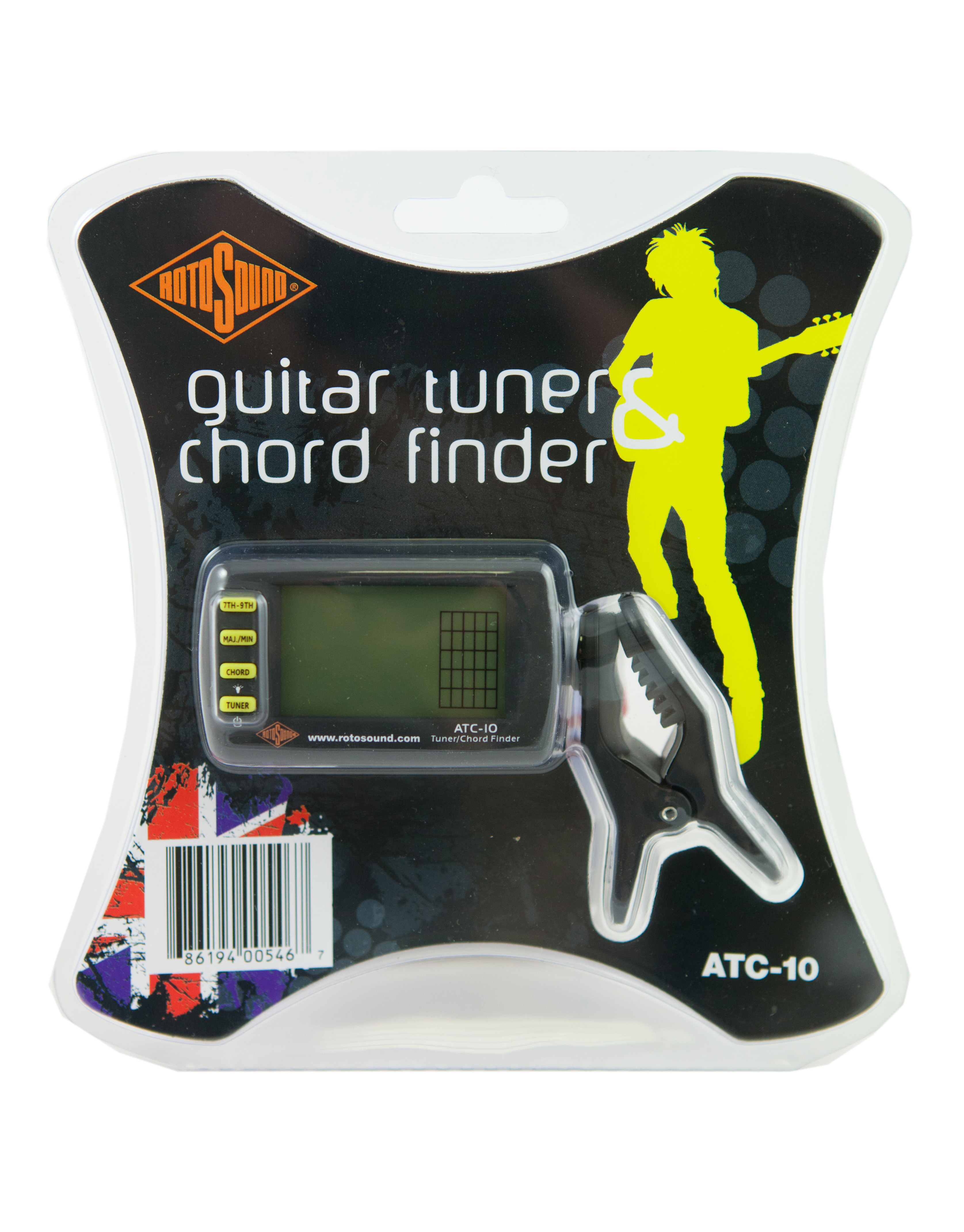 Atc10 Guitar Tuner And Chord Finder From Rotosound Guitarsite