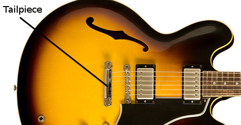 Tailpiece on a Gibson 1959 ES-335 Dot Reissue