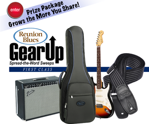 Win a Fender Stratocaster and Fender guitar amplifier