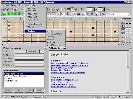 AxMaster Guitar Software