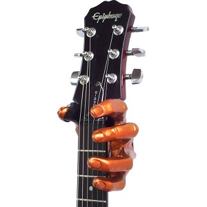 Hand shaped guitar hanger