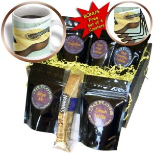 Guitar Coffee Gift Basket
