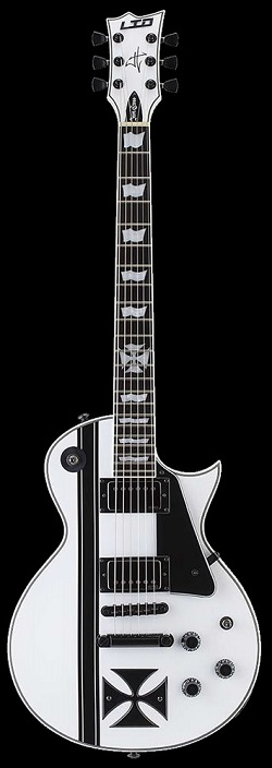 LTD James Hetfield White Iron Cross