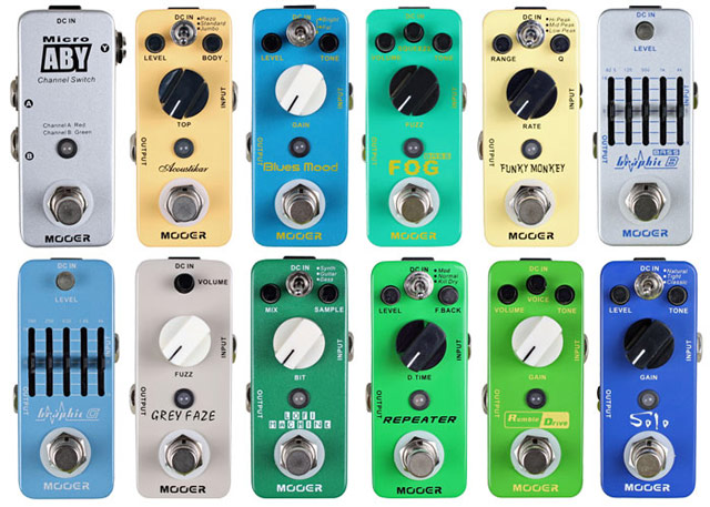 Mooer Micro Pedals 2013 NAMM
