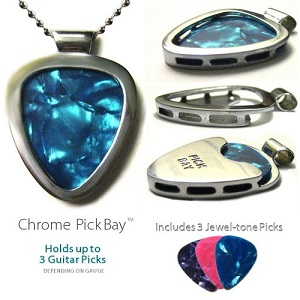 PickBay Stainless Steel Guitar Pick Holder Necklace