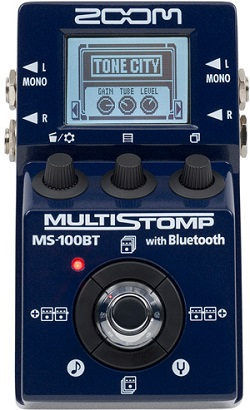 zoom ms 100bt multistomp pedal with bluetooth guitarsite. Black Bedroom Furniture Sets. Home Design Ideas