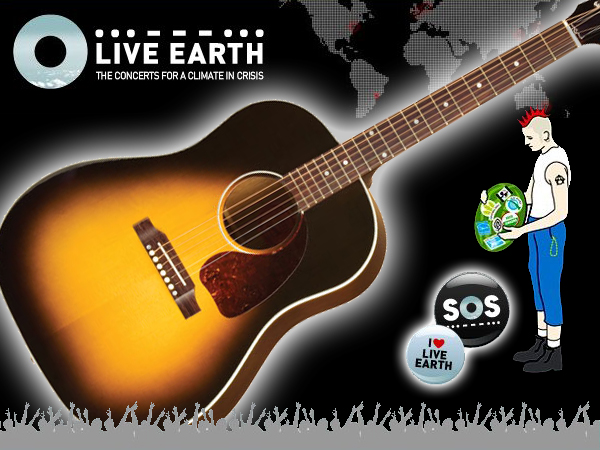 Live Earth Gibson Guitar