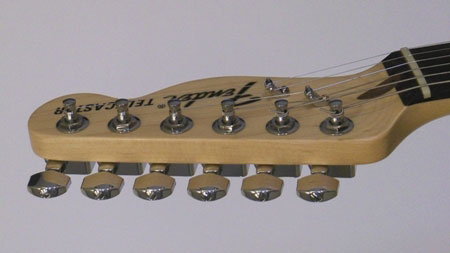 The Miracle Guitar has perfectly aligned tuning keys