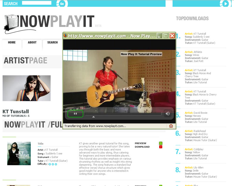 NowPlayIt Website